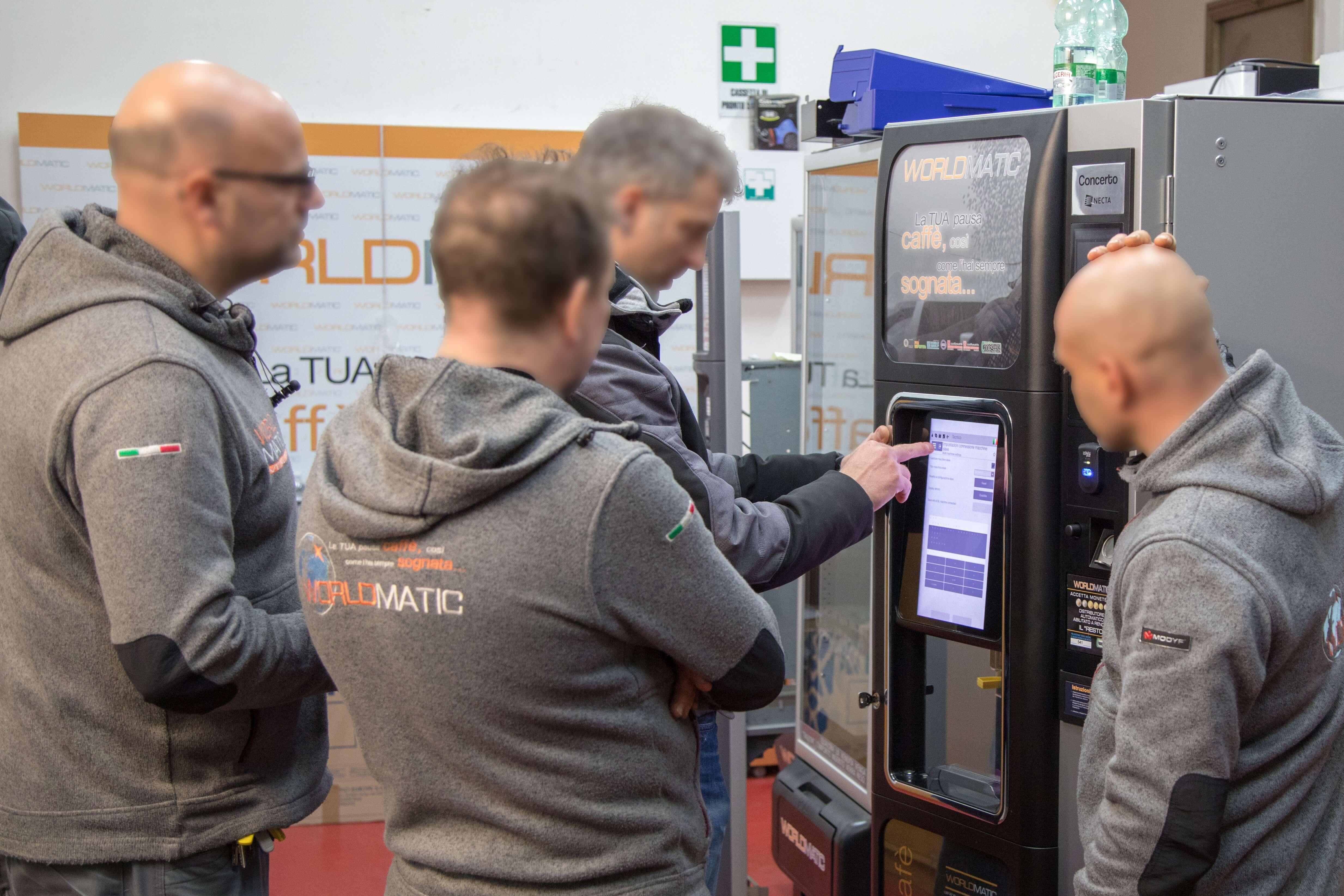 aggiornamenti tecnici distributore automatico